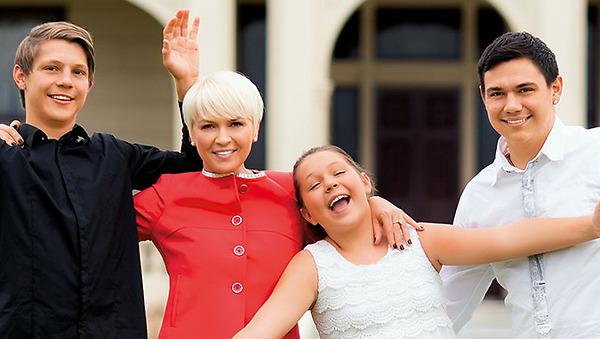Наталья Цзю с детьми